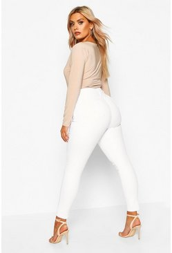 Womens White Plus Skinny Jeans