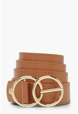 Tan Plus Double O Ring Waist Belt