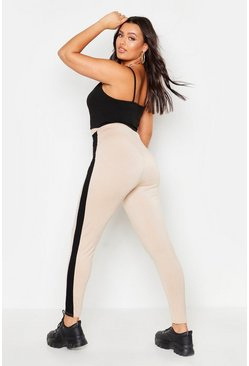 Womens Stone Plus Side Stripe Legging