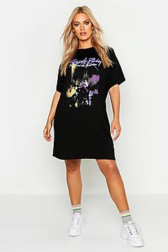 Plus Prince Graphic Licensed T-Shirt Dress