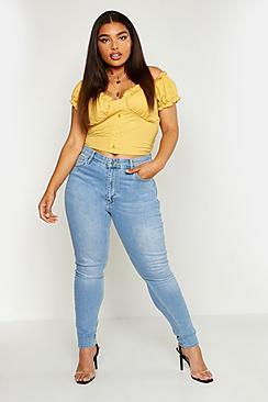 Plus Butt Shaper Midi Rise Skinny Jean