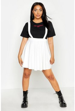 Ivory Plus Pinafore Skirt
