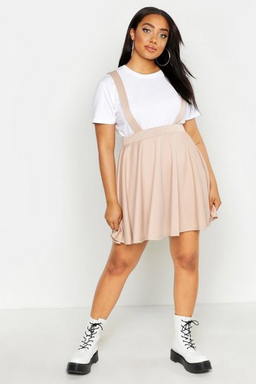 Stone Plus Pinafore Skirt