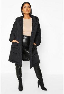 das billigste neueste auswahl einzigartiges Design Wattierter Petite Longline Mantel mit Bindegürtel