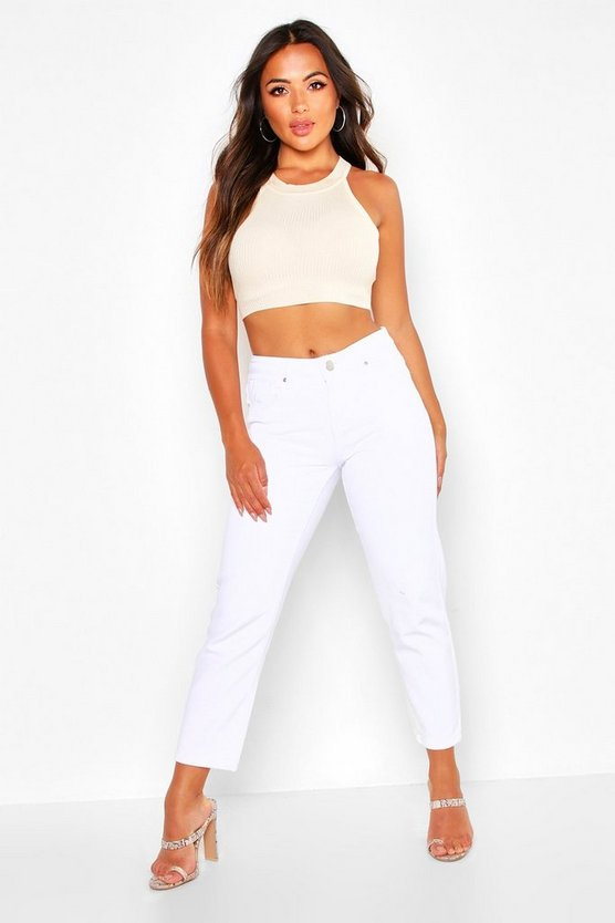 Petite High Rise Straight Jeans