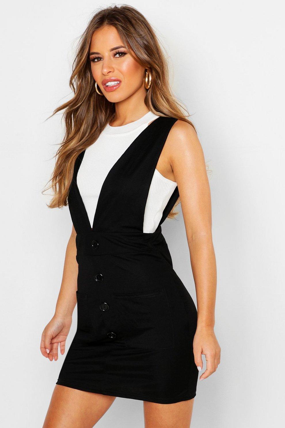03b0a6815 Vestido estilo pichi con botones de lino Petite