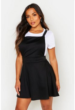 Womens Black Petite Cross Back Pinafore Dress