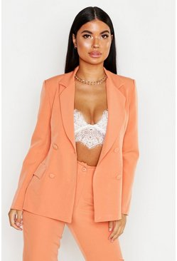 Womens Apricot Petite Self Fabric Button Blazer