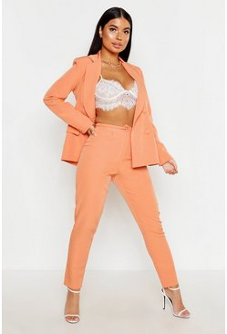 Dam Apricot Petite Button Tailored Trouser