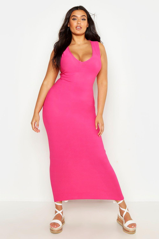 Plus V Front Maxi Dress 8