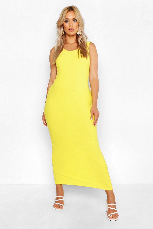 Plus Scoop Neck Maxi Dress 10