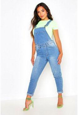 Womens Pale blue Petite Denim Dungarees