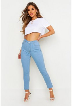 Womens Pale blue Petite Skinny Bum Shaper Jeans