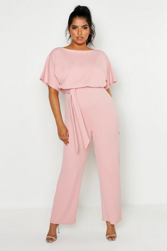 Womens Blush Plus Double Layer Jumpsuit