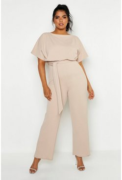 Stone Plus Double Layer Jumpsuit
