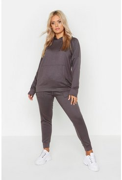 Charcoal Plus Hoody & Jogger Lounge Set
