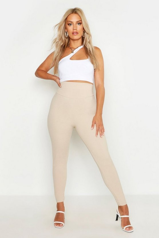 Womens Stone Plus Thigh Waist Sculpt Leggings
