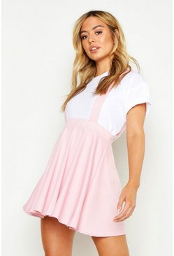 Womens Rose Petite Skater Pinafore Skirt