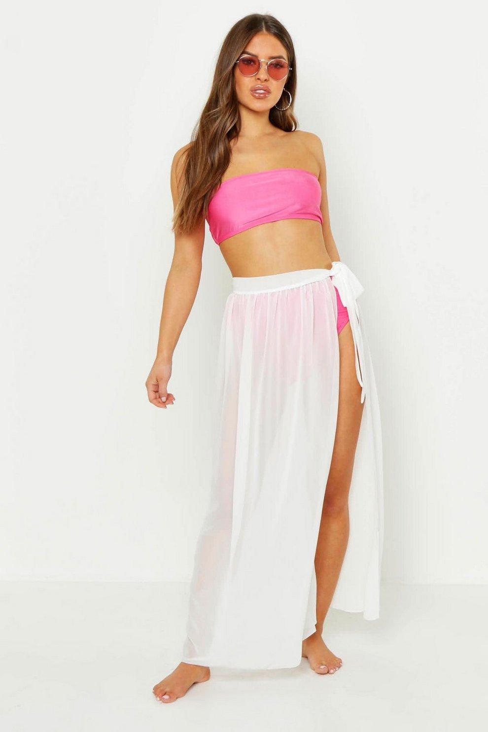 6024897aadff0 Petite Chiffon Beach Wrap Maxi Skirt | Boohoo