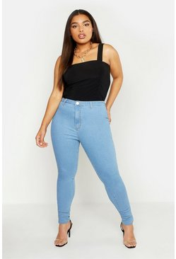 Womens Light blue Plus Tube Jean