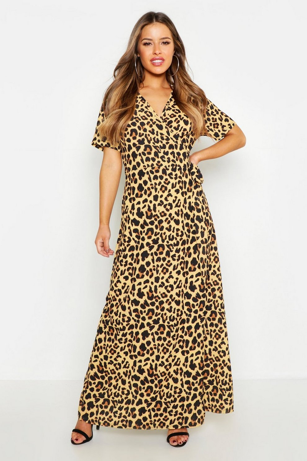 71e3cdcb1e Petite Wrap Leopard Print Maxi Dress