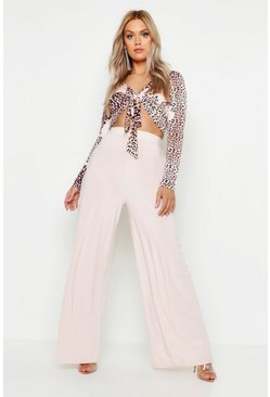 Womens Nude Plus Slinky Wide Leg Trousers