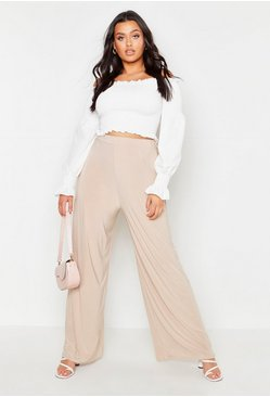 Stone Plus Slinky Wide Leg Trousers