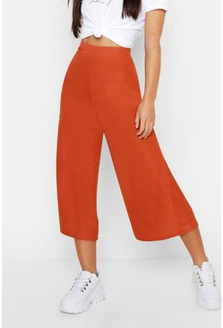 Jupe-culotte coupe large Petite, Terracotta