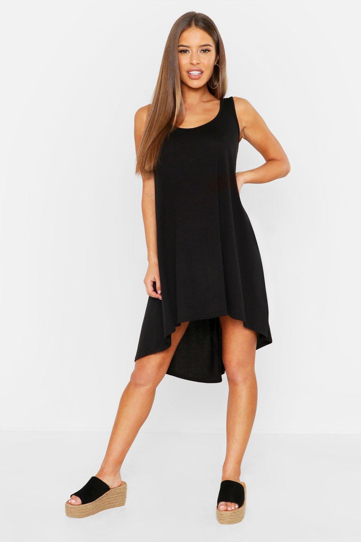 Petite Neon Dip Hem Beach Dress