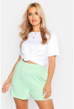Womens Sage Plus Self Belt Flippy Shorts