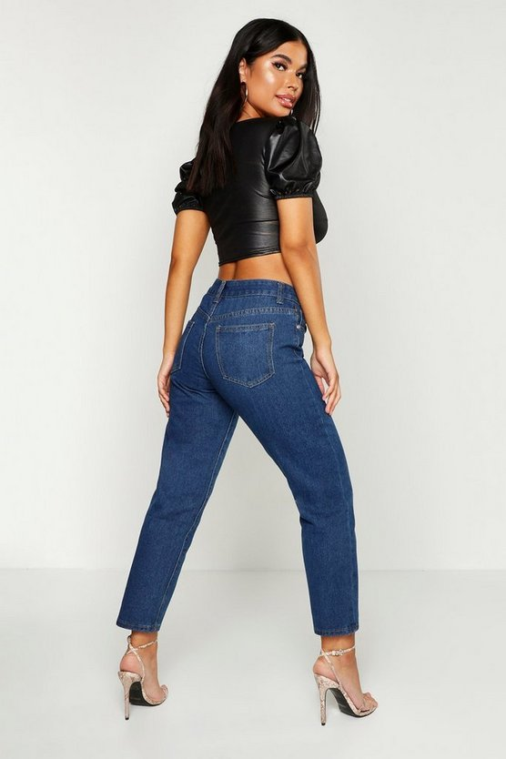 Petite High Rise Straight Leg Jean
