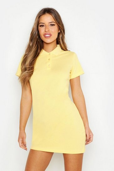Womens Yellow Petite Tennis Dress