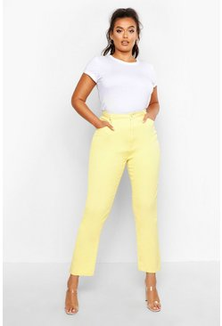 Womens Plus Lemon Twill Mom Jean