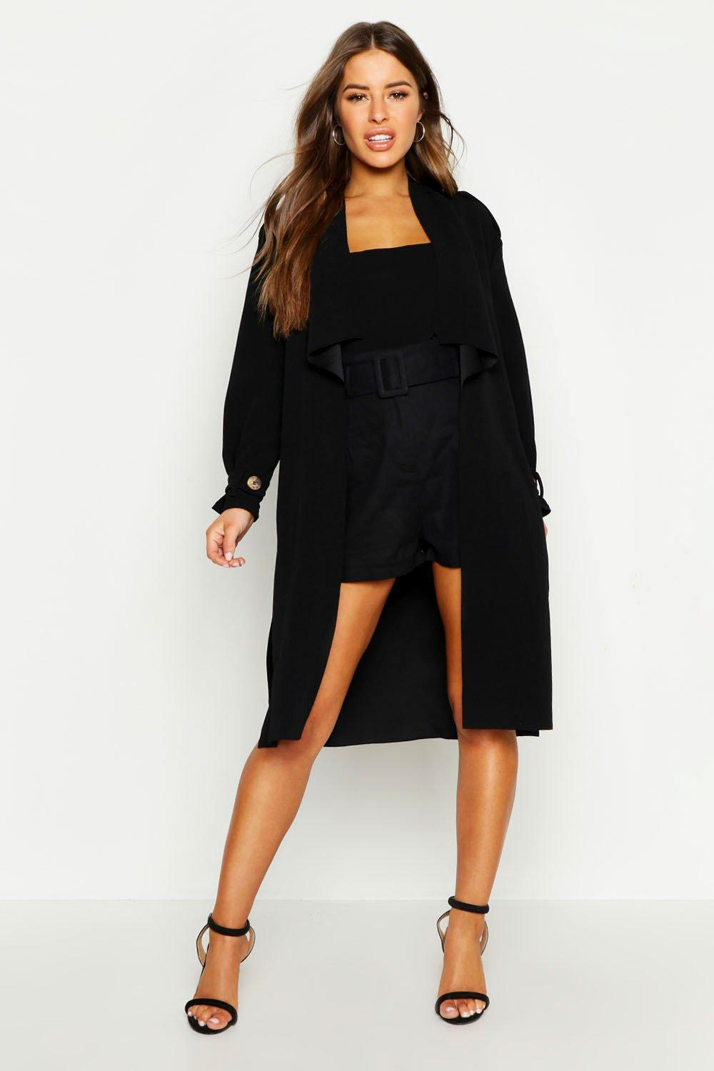 Petite Wrap Longline Belted Light-Weight Duster