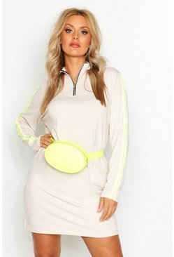 Womens Neon-lime Plus Neon Quilted Bum Bag