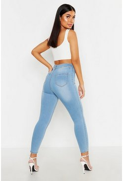 Womens Light blue Petite 5 Pocket Skinny Jeans