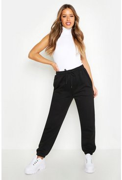Womens Black Petite Pocket Jogger