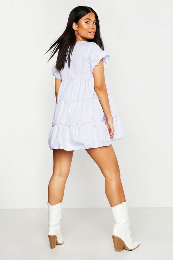 Petite Broderie Anglaise Smock Dress