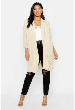 Plus Woven Pocket Duster, Stone