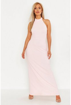 Blush Plus High Neck Maxi Dress