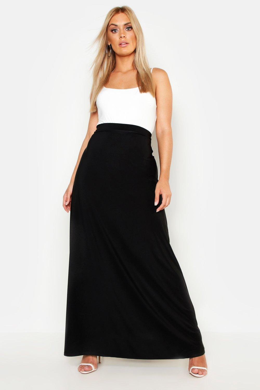 Plus Slinky Maxi Skirt