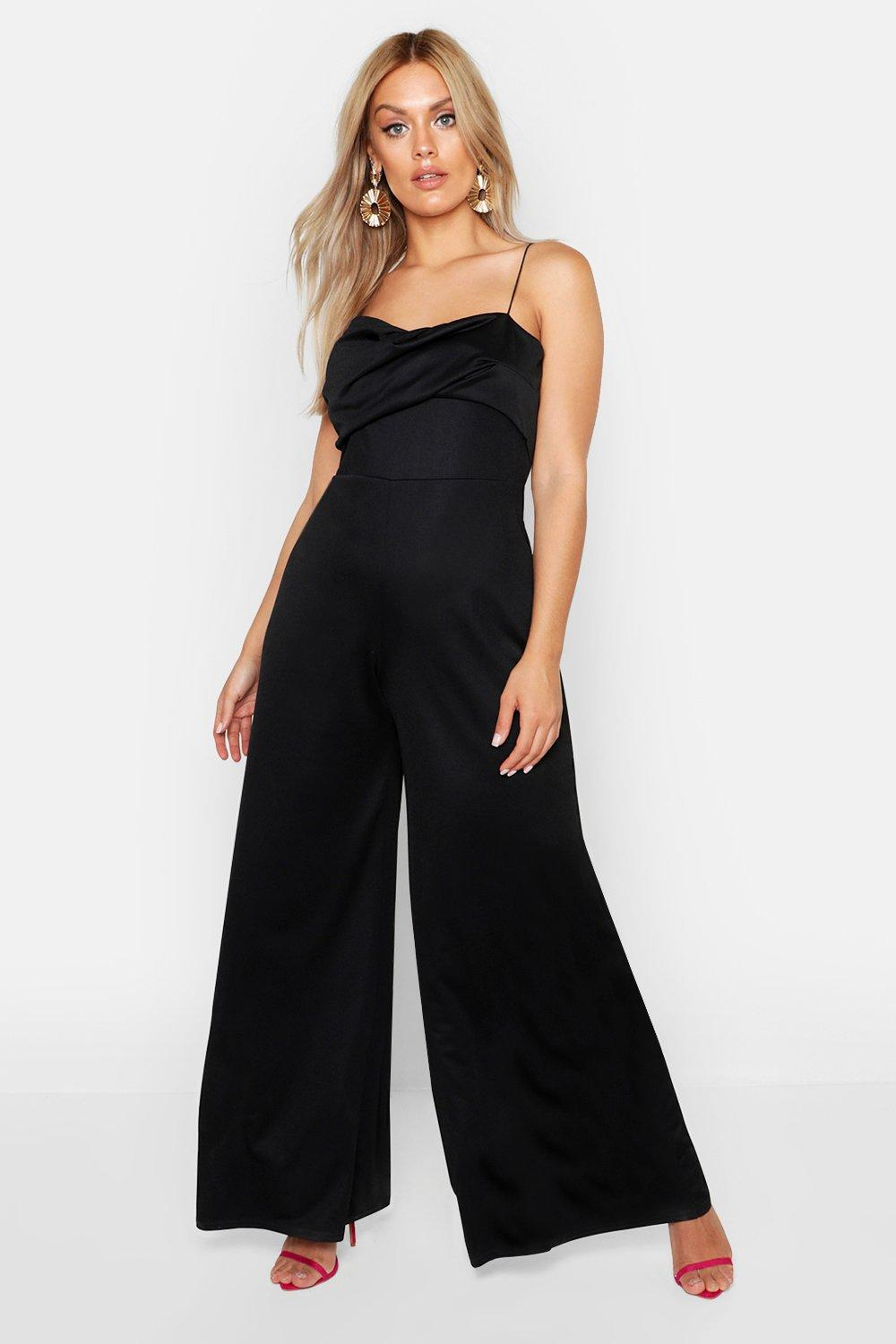 Plus Twist Detail Wide Leg Jumpsuit