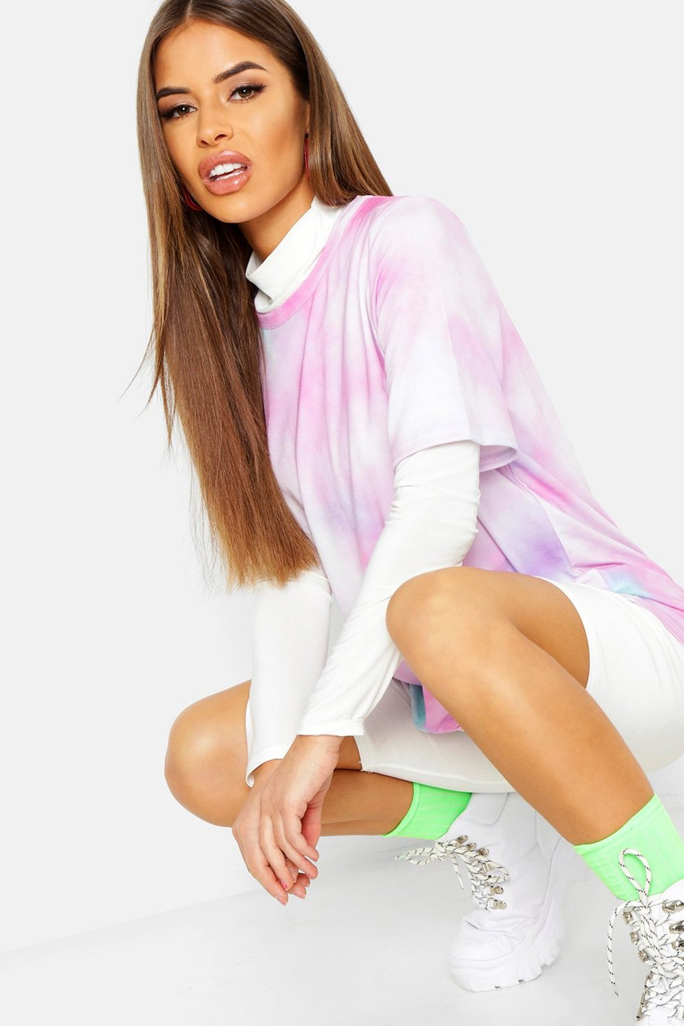 ef068fc1d17cda Womens Lilac Petite Tie Dye T-Shirt
