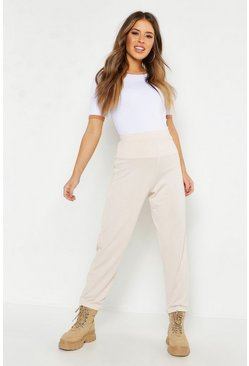 Womens Ecru Petite Side Stripe Trim Jogger