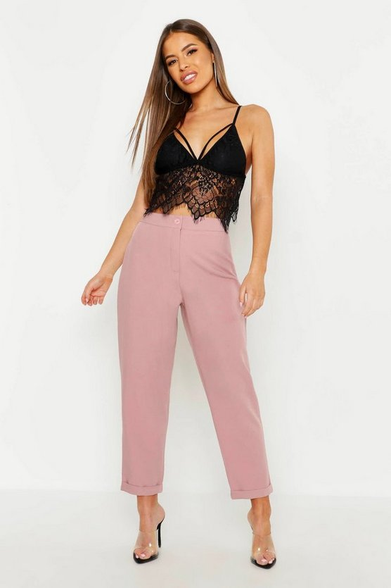 Petite High Waist Tapered Trouser