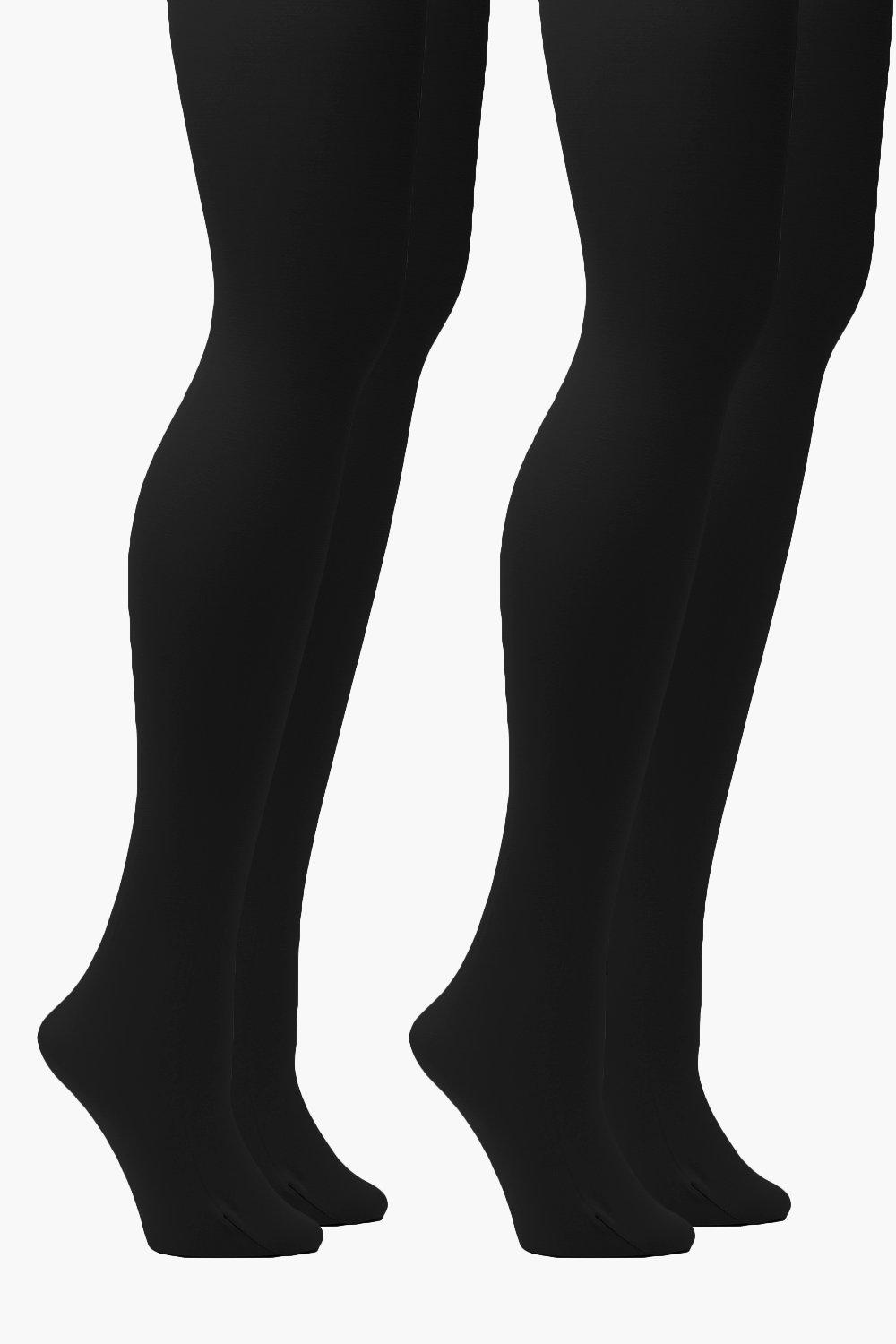 Plus 2 Pack 40 Denier Tights