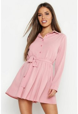 Rose Petite Smock Shirt Dress