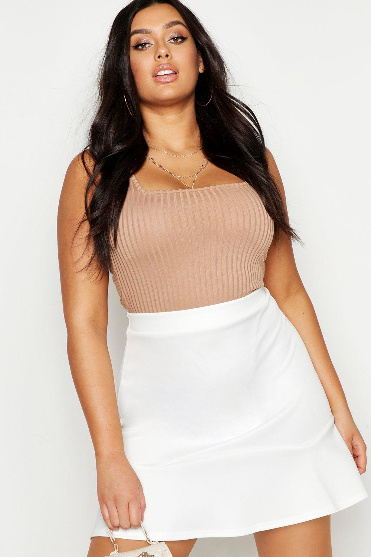 Plus Scuba Peplum Mini Skirt
