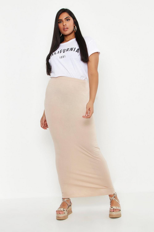 042280d4e0 Plus Jersey Maxi Tube Skirt