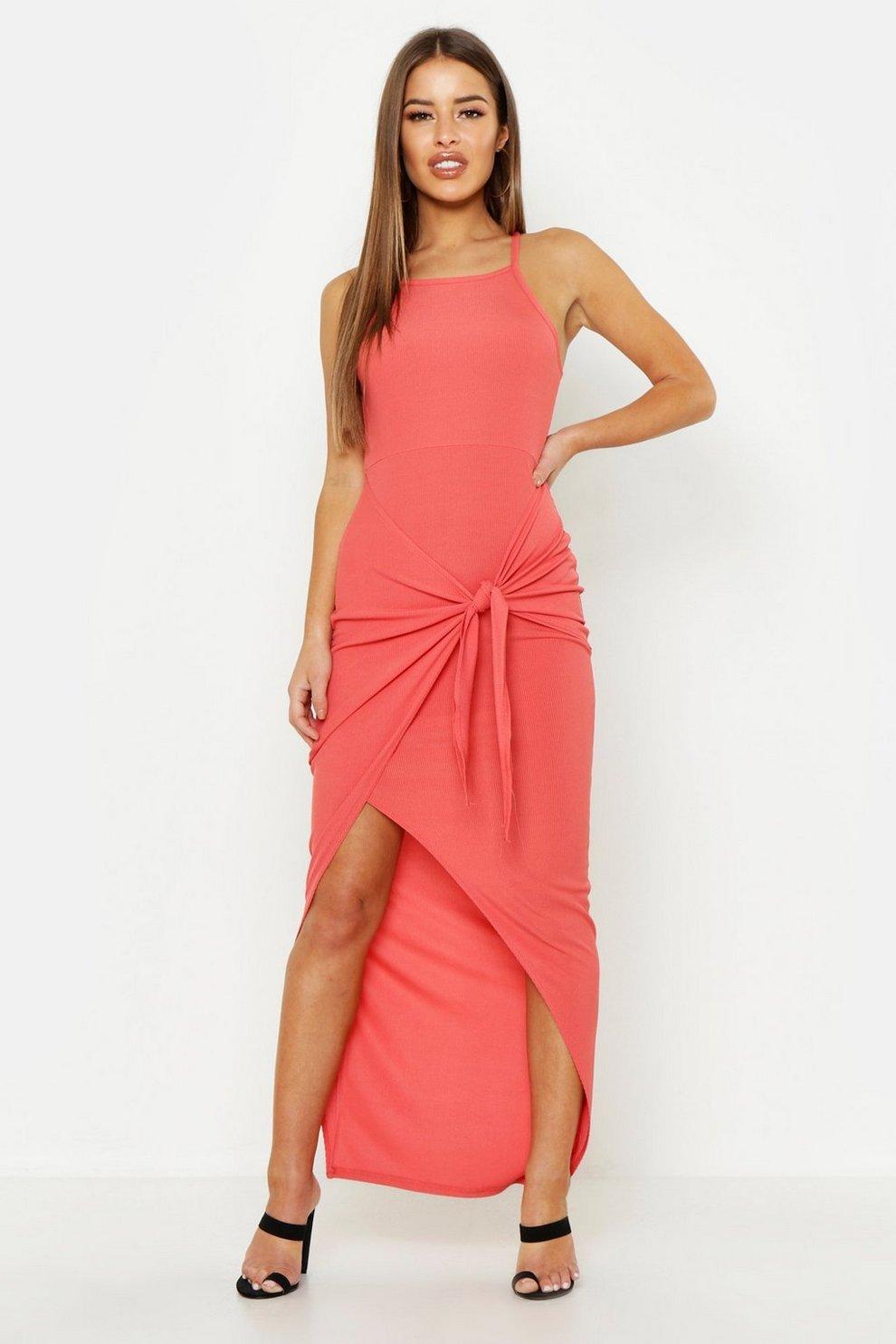 27da0db655e Petite High Neck Wrap Skirt Maxi Dress